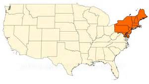 northeastern america map pictures to pin on
