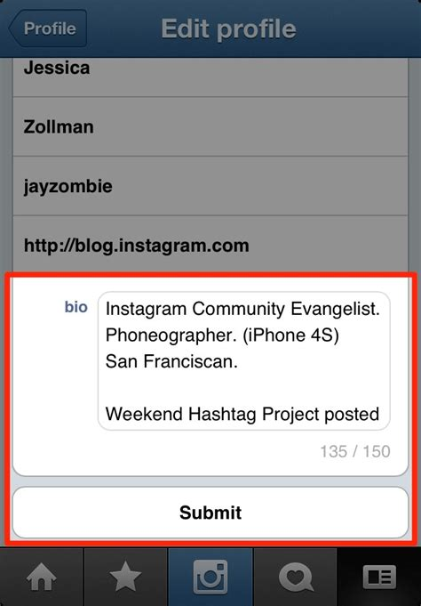 bio instagram tricks instagram tips add a profile bio website