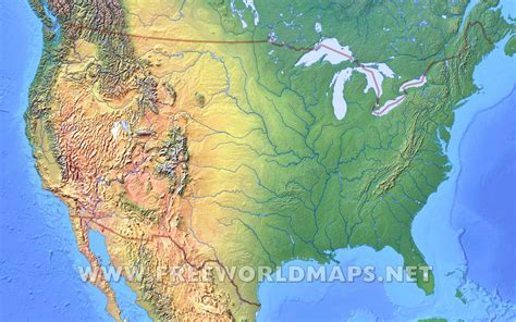 on us map united states physical map