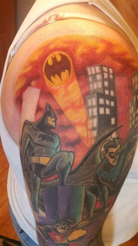 batman animated tattoo cap of my batman animated series sleeve after the bat