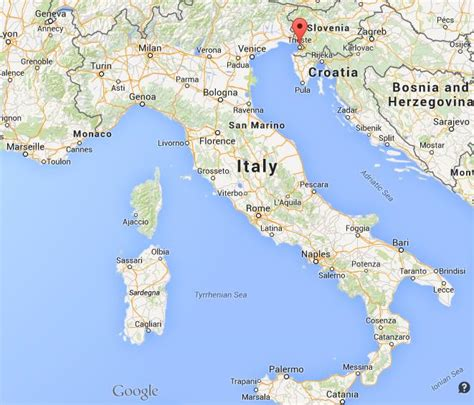 triest map where is trieste on map italy world easy guides