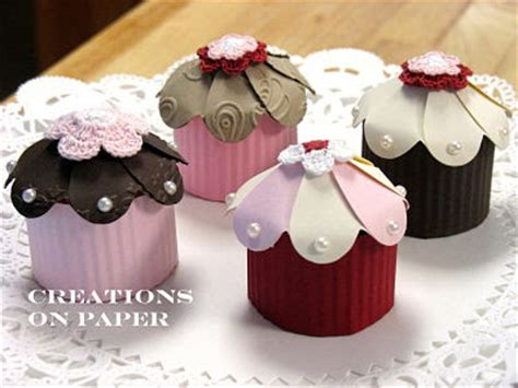 How To Make Cupcakes Out Of Paper - creations on paper cupcake shape box tutorial