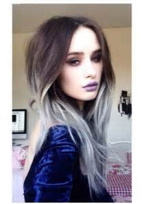 chinbhairs and biob hair gray hair ombre 2015 2016 dark brown hairs