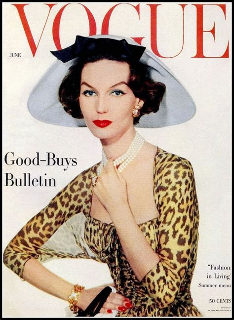 In Style New Magazine Targeting Late by Vogue June 1957 The Cover Of This Magazine Shows The
