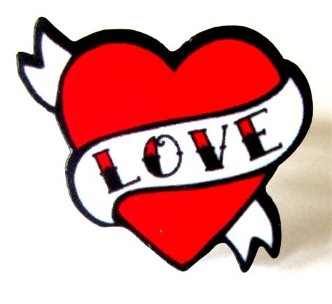 imagenes rockabilly love items similar to tattoo style love heart with scroll