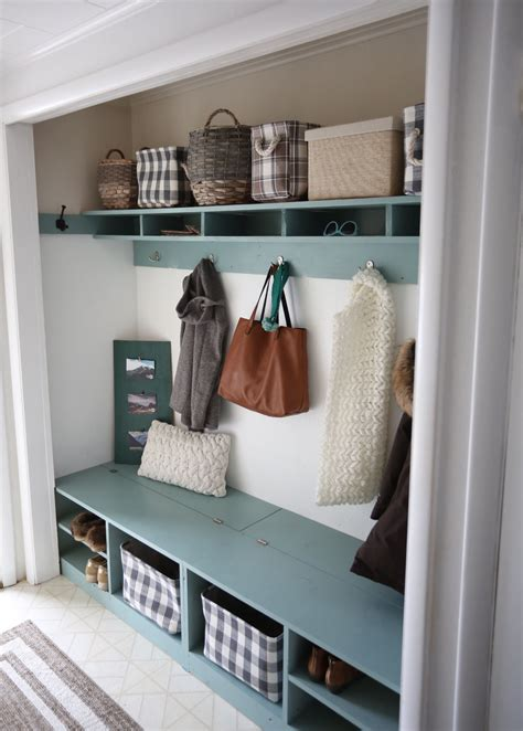 home plans with mudroom white behrbox mudroom in a closet diy projects