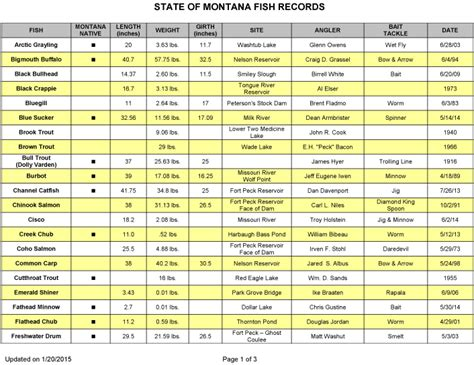Records Montana Montana State Record Fish Montana And Fishing