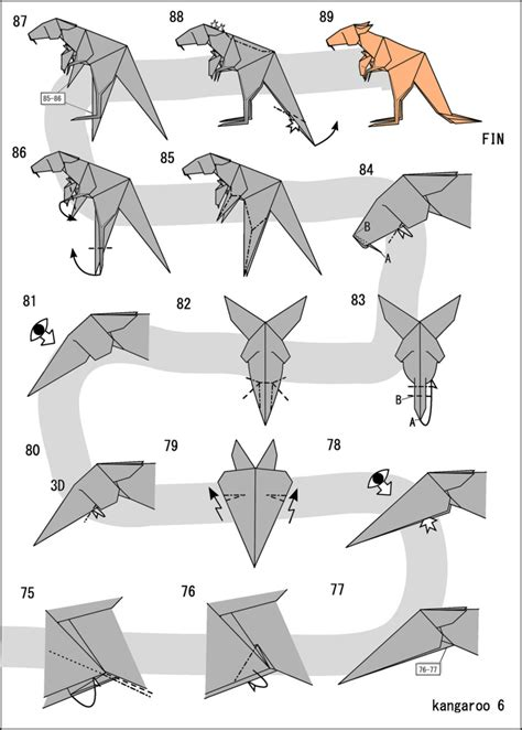 Origami Kangaroo Easy - the world s most recently posted photos of kangourou and