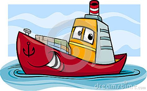 management boat cartoon container ship cartoon illustration stock images image