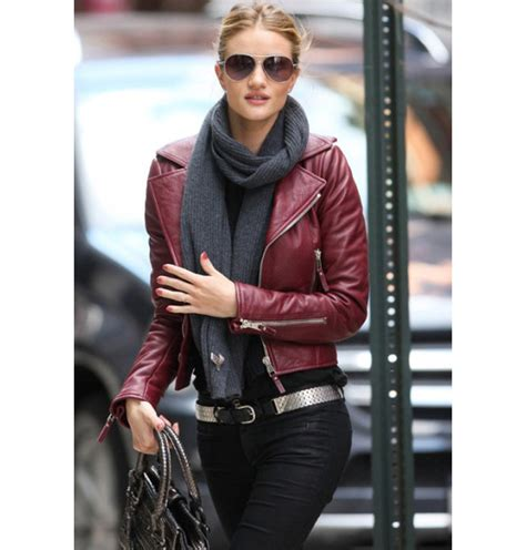 Jaket Parka Zipper Maroon Rip Black brand rivet pu faux leather moto motorcycle jacket zipper crop biker coat