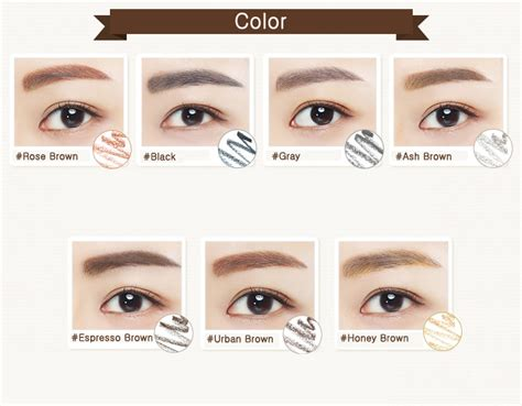 Harga Innisfree Eco Eyebrow Pencil innisfree auto eyebrow pencil 0 3g 7 colors to choose