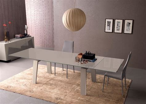 tavoli frau tavolo allungabile in vetro e legno per cucina moderna