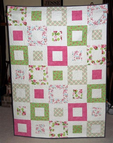 Quilt Pattern Square In A Square | you have to see square in a square quilt on craftsy