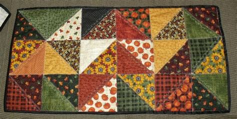 Patchwork Quilt Song - table runner i used harvest song turnover fabric by