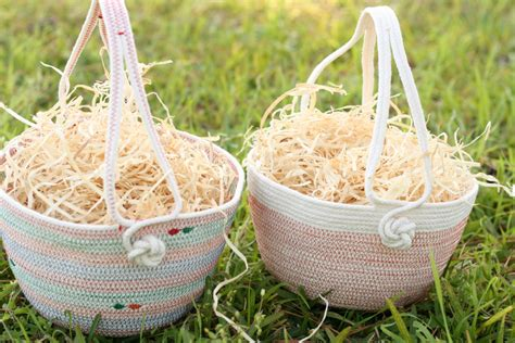 Handmade Baskets - 18 joyful handmade easter decorations you ll want to