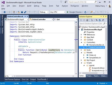 template asp net vb vb net now supported in devextreme asp net mvc wrappers
