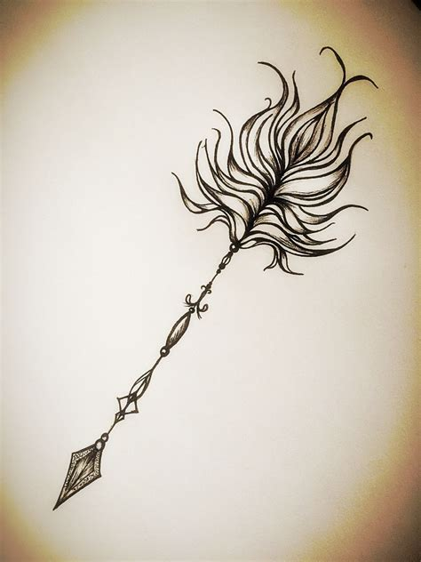 my own tattoo design arrow my inspiration tonight my own design