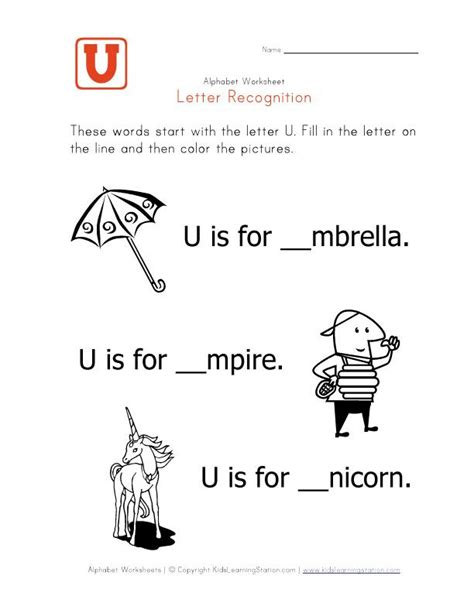 Words Letter U words that start with the letter u preschool ideas
