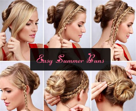 easy to make summer hairstyles easy bun hairstyle tutorials for the summers top 10