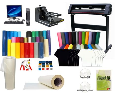 printing vinyl graphics at home complete t shirt printing package heat press cutter