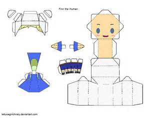 Papercraft Adventure Time - papercraft finn adv time by lettucegirlchristy on deviantart