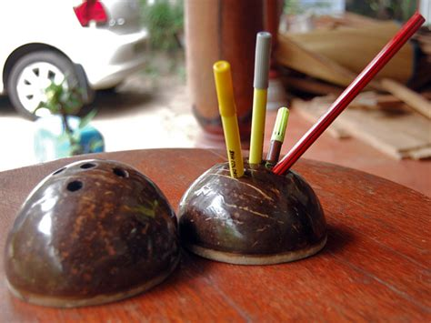 Ideal Home Decorating buy coconut shell pen holder from mesha paradise madurai