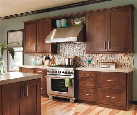 contemporary cherry kitchen cabinets decora cabinetry