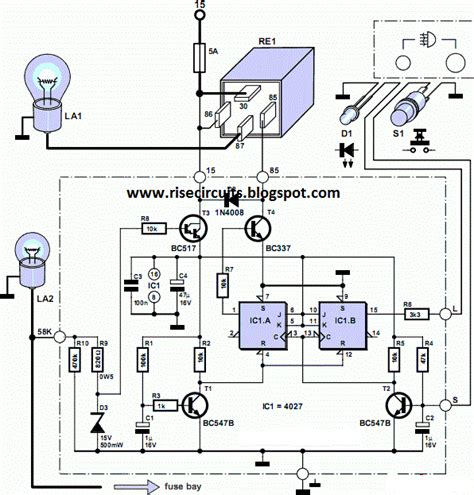 rear fog l for vintage cars circuit diagram circuits