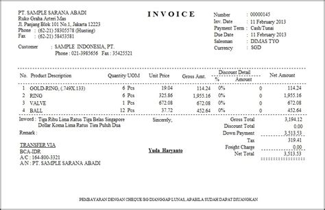 software pembuat faktur invoice contoh invoice software akuntansi zahir accounting