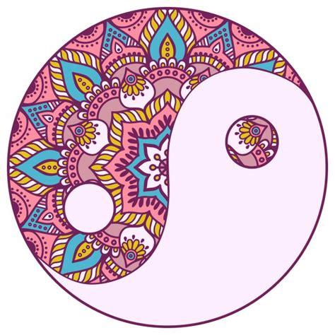 colorful yin yang colorful yin y yang mandala vector premium