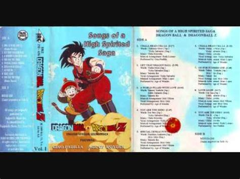 english themes songs dragon ball theme song english get that dragon ball