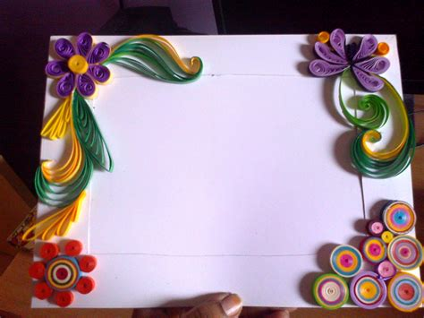 How To Make Paper Quilling Frames - paper quilling photo frame buy from shopclues