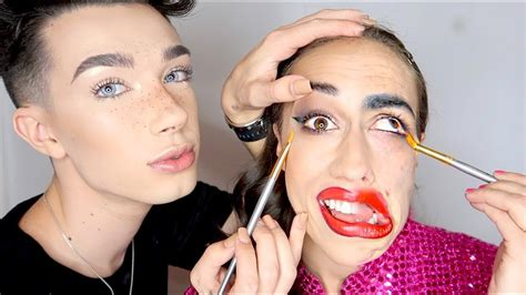 james charles makeup art half full glam half miranda make up w james charles