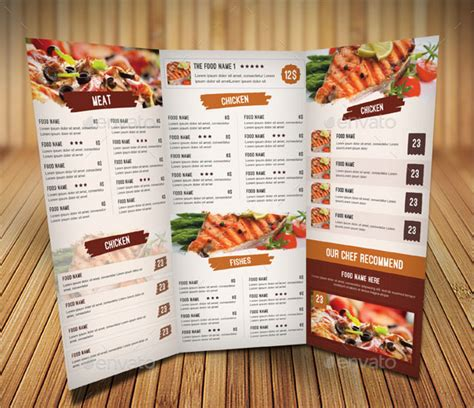 36 best menu card templates free sle exles 2018