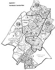 Boston Ward Map by Jamaica Plain Historical Society Resources Editor