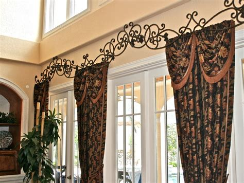 how to make custom drapes custom rod iron header for drapes family room ta
