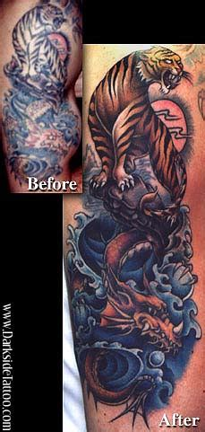 dragon tattoo placement darkside tattoo tattoos fantasy dragon tiger dragon
