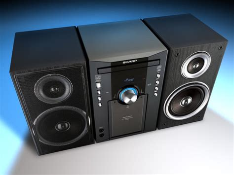 Sharp Shelf Stereo System by Sharp Shelf Stereo