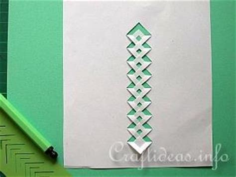 braided tree card template free craft using lace incere templates