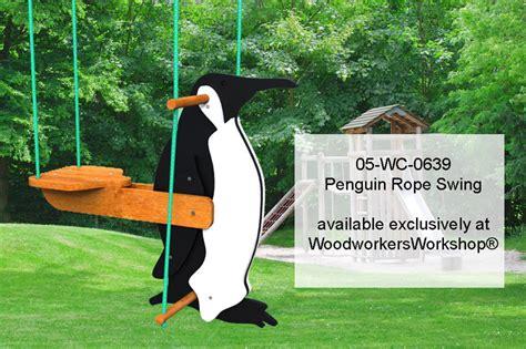 penguin swing 05 wc 0639e childrens penguin rope swing yard art