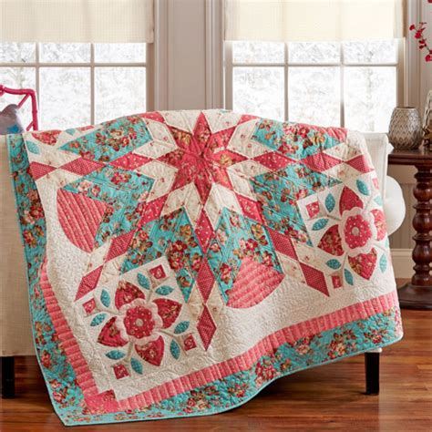 American Patchwork Quilt - bursting with blooms appliqu 233 placement diagram