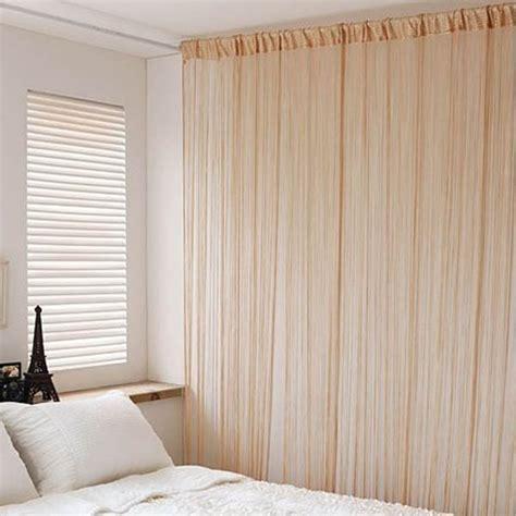 partition curtain designs fringe tassel line string solid curtain window door room