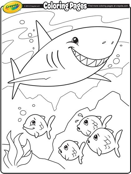 shark coloring pages shark coloring page crayola