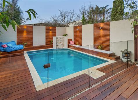 Swimming Pool Designs by Fully Frameless Glass Pool Fencing Channel System Everton