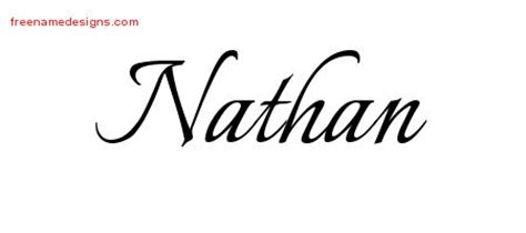 design tattoo online free names calligraphic name designs nathan free graphic