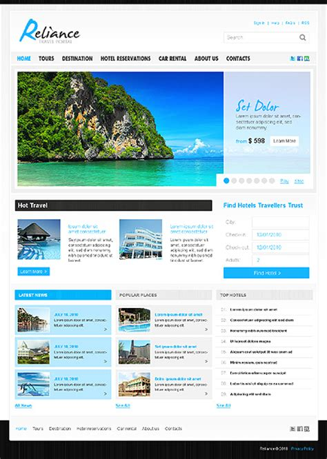 slideshow templates for asp net template 27587 travel portal joomla website template