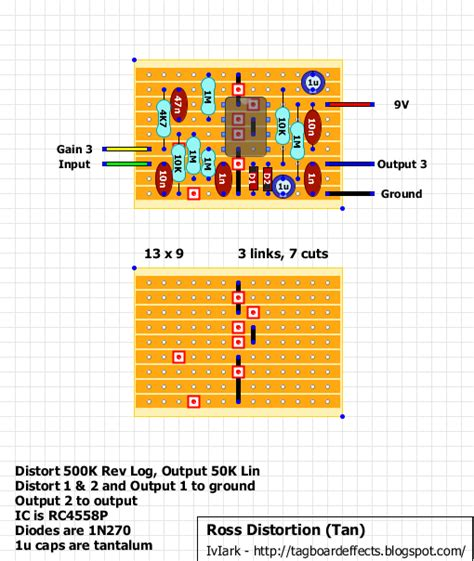 vero layout guide guitar fx layouts ross distortion