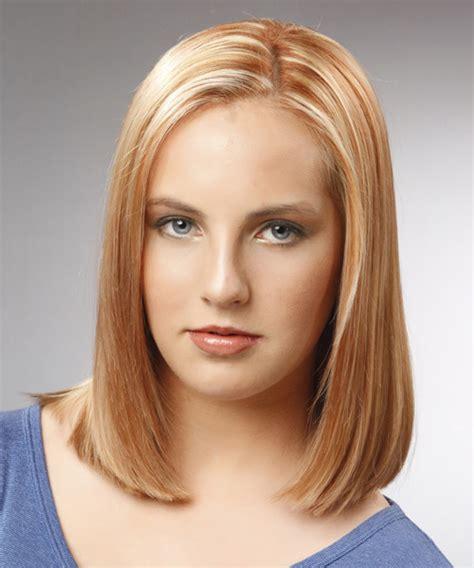 man in salon wants a womens bob haircut and his ears pierced medium straight formal bob hairstyle light blonde copper