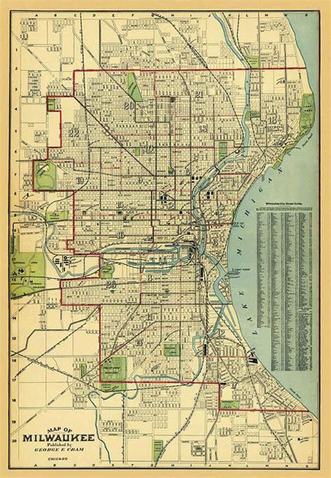maps milwaukee milwaukee map map of milwaukee print