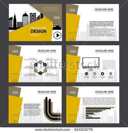 page layout design elements page layout design template presentation brochure stock